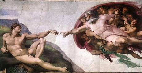 God creates Adam. Sistine Chapel