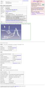 Oriģinālās bildes EXIF dati